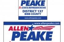Allen Peake Campaign Signage