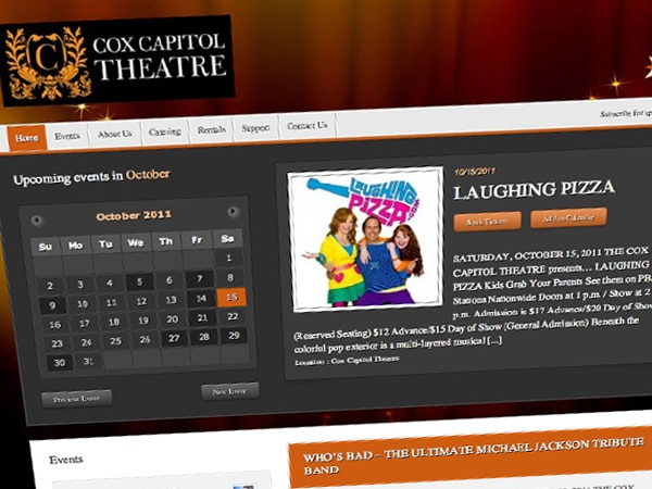 Cox Capitol Theatre Website