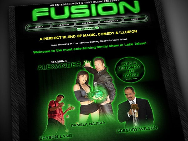 Fusion Magic Show Website