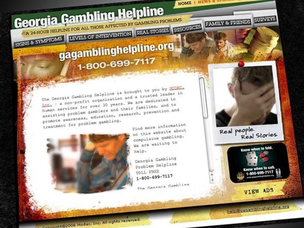 Georgia Gambling Helpline Website