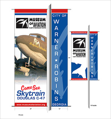 Museum of Aviation Pole Banner