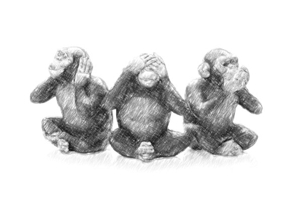three wise monkeys Inspirational Quotes for Business Success: Shhh...