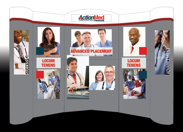 ActionMed Personnel Tradeshow Booth