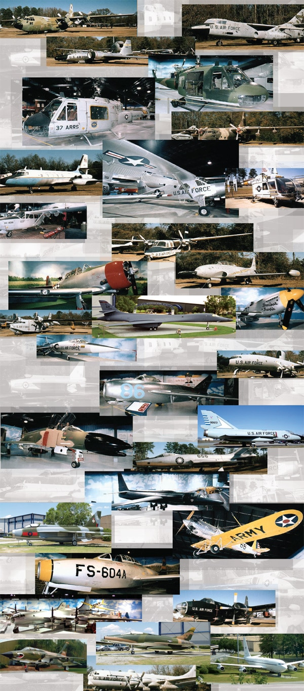 Museum of Aviation Aircraft Montage