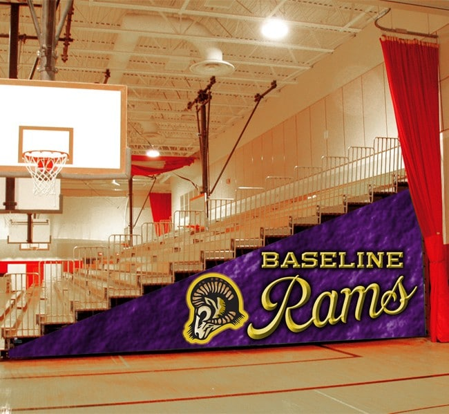 Baseline Rams Bleacher Enclosure