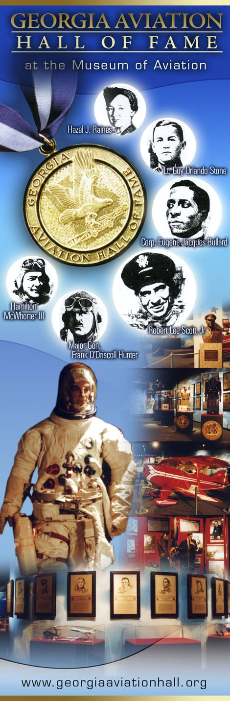 Georgia Aviation Hall of Fame Kiosk Graphic