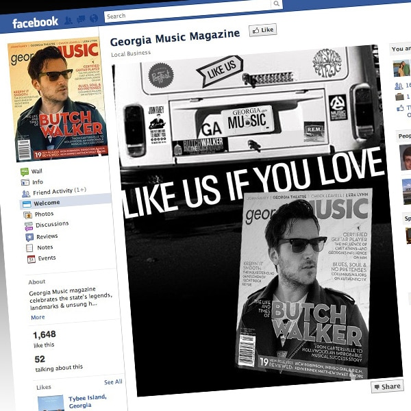 Georgia Music Magazine Facebook Page - Web Design Macon, Social