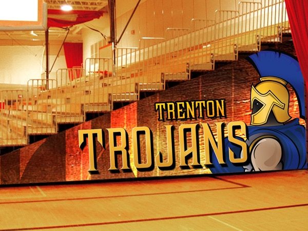 Trenton Trojans Bleacher Enclosure